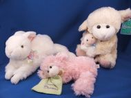 Goffa Pink Lying Down Lamb Green Blankie Sweet Dreams