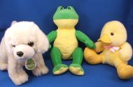 Aurora Babies Plush Cream Dog Soft Green White Tag