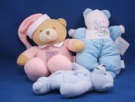 2001 Berkeley Designs Blue Its a Boy Beanie Teddy Bear