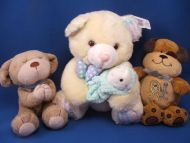 DanDee Soft Expressions Plush White Teddy Bear Rattle Scent