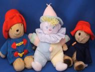 Kids Gift Paddington Bear Velour Attached Blue Coat Red Hat