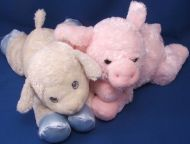Aurora Pink Minky Chenille Floppy Baby Pig Snout Hooves Ears Tail
