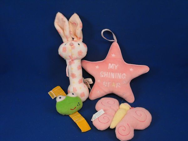 Lot of 3 Baby Rattles plus My Shining Star Soft Decoration