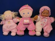Fisher Price Blond Doll Pink Velour Sleeper Babys 1st Doll