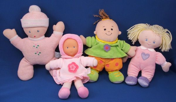 Baby GUND Blond Doll My Little Baby Charlotte Pink Sleeper w BACKPACK