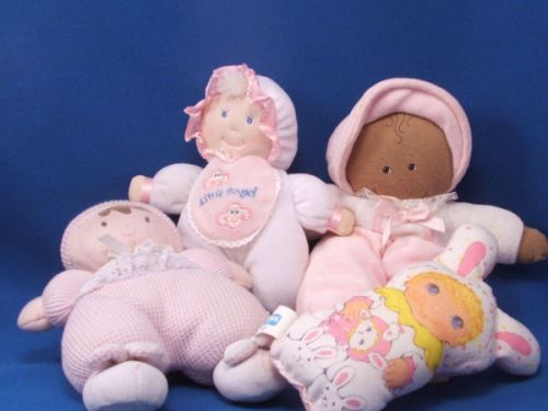 Playskool Jammie Pies Lil Squeakers Pink Doll Rabbit Ears Squeaks