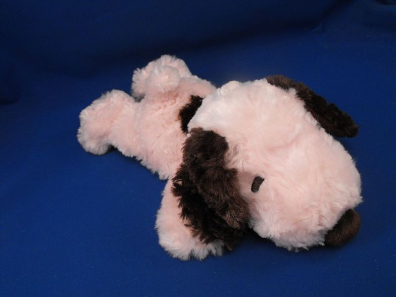 Hallmark Pink Brown 12 inch Lying Down Snoopy