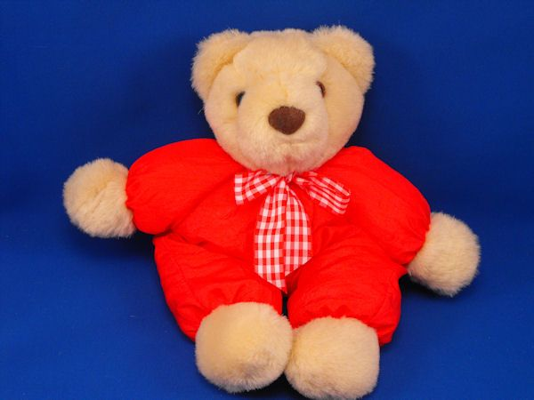 Hallmark no VDT2292 Tan Bear Red Puffalump Body