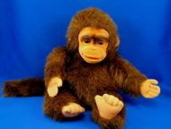 Hosung Brown Full Body Puppet Monkey Molded Face Squeaker