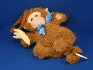 KIDS II Brown Monkey Holding Banana Crib Pull SCHOOL DAYS