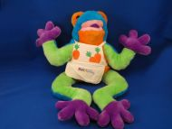 1998 Kids Preferred XL Zany Brainy Neon Color Tree Frog w Sound