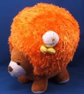 Moshi Brown Pop Tops Bear Orange Shaggy Chenille