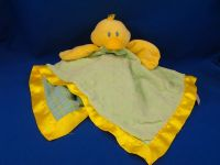 Mary Meyer Green Minky Dot Seersucker Yellow Duck Blankie