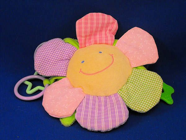 Mary Meyer Baby Yellow Pink Green Lavender Flower Rattle