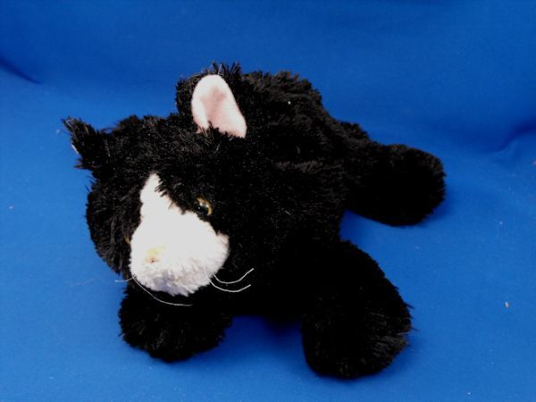 Mary Meyer Wiggly Black White Cat Pink Ears Floppy