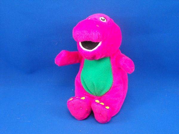 2007 JAKKS Small Plush Barney DISCOUNTED
