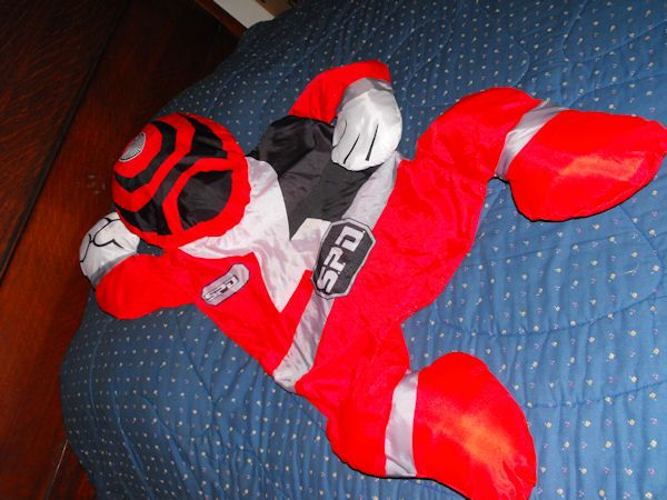 Snugglers XL Red Black Power Rangers Pillow Character