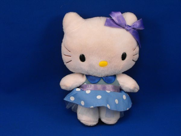 Nakajima Sanrio HELLO KITTY White Polka Dot Blue Dress