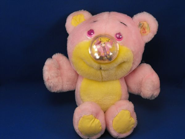 1987 Nosy Bears Pink Yellow Nosey Bear BUTTERFLY STARS