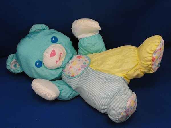 1997 Playskool 5153 Microban Gentle Touch Aqua Yellow Bear