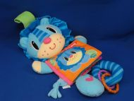2005 Playskool 08500 Picture Puppet Story Lion Blue Cloth Book