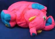 Fisher Price 1994 Puffalump XL Big Things Hot Pink Teal Elephant