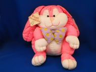 Plush Creations PUFFY PALS Puffalump Style Lop Ear Pink Rabbit