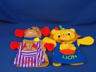 Baby Einstein Lot of 2 Hand Puppets Dog and Lion