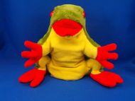 K&M Green Yellow Red Full Body Tree Frog Puppet