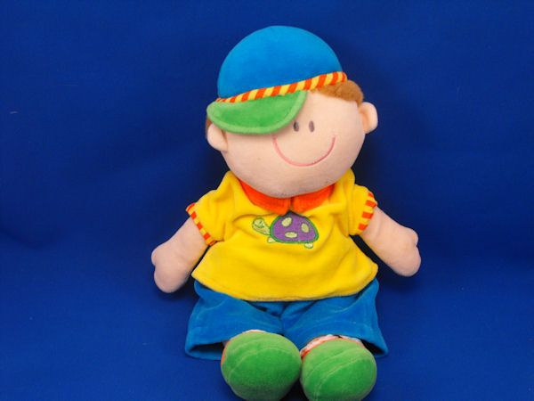 RUSS 24522 DOLLIES Boy Doll Yellow Blue Turtle