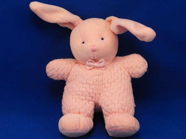 RUSS Baby no 1393 Pink Velour Thermal Rabbit Rattle