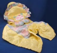 Playskool Snuzzles Plaid Yellow Lion Blankie Pillow Rattle
