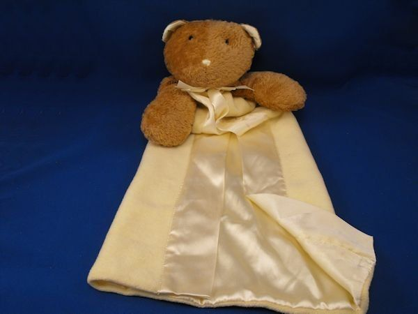Stephan XL Brown Bear Yellow Gown Style Blankie