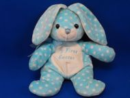 Walmart Small Blue White Polka Dots Rabbit My First Easter
