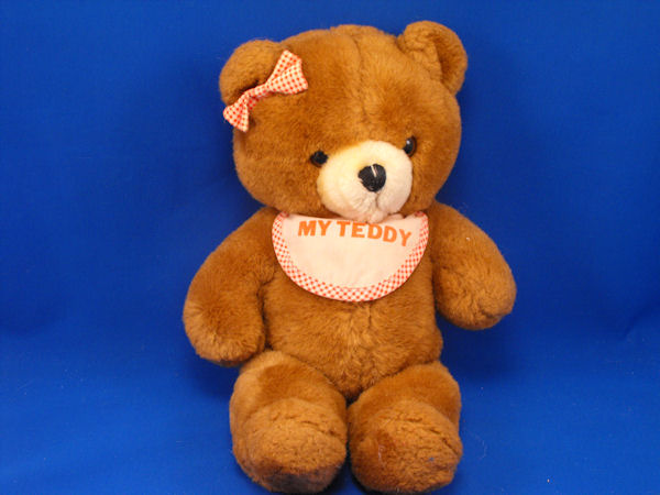 House of Lloyd Vintage Brown Bear My Teddy Bib Hair Bow