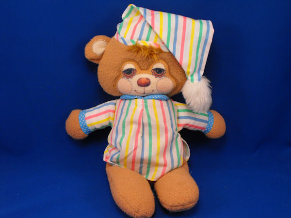 1986 Fisher Price #1405 FLAT TEDDY BEDDY BEAR