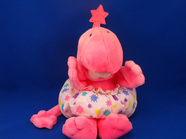 GUND 1990 Full Body Puppet Pink Zwibble Dibble with Star Print Diaper