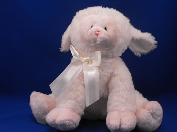 , Searching – Baby GUND no 58587 Cream Woolly Seated Lamb Little Cloudy