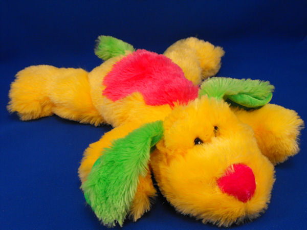 GOFFA Lying Down Neon YELLOW, GREEN, HOT PINK DOG