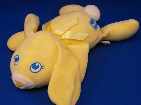 Playskool My Very Soft Pet Yellow White Lying Down Rabbit