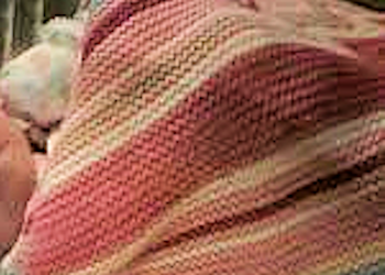 2010 Cynthia Rowley Hooray Prep Up Pink Stripe Knit Baby Blanket
